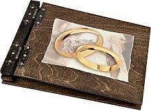 dickes 50 Blatt Hochzeits Holz Fotoalbum Ehe