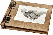 dickes 50 Blatt Holz Fotoalbum mit Handschellen