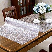 Dickes PVC Wasserdicht Tischdecke,Kunststoff-Glas