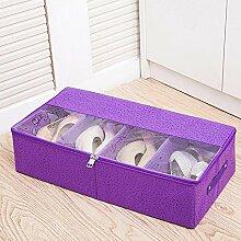 Dickes transparentes Schuhkasten-Tuchschuhkasten kann kombinierte Aufbewahrungsbehälter-Beutelaufbewahrungsbehälter kombiniert werden , #2