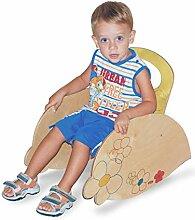 Dida - Kinder-Schaukelstuhl aus Holz - Dekoration: