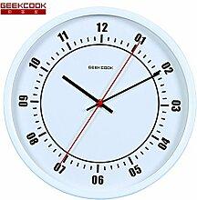 DIDADI Wall Clock 12 Zoll metall Wanduhr moderne, minimalistische schicke Wohnzimmer Schlafzimmer stummschalten, wenn elektronische Uhren