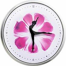 DIDADI Wall Clock 12 Zoll wird Tanz Uhr Wohnzimmer Wanduhr Ballett Ornamente kreative Mode Uhren Wanduhr