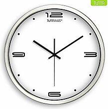 DIDADI Wall Clock 14-Zoll Wohnzimmer minimalistischen große Schautafel Wanduhr Quarzuhr