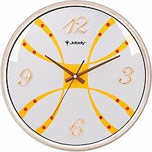 DIDADI Wall Clock 36cm einseitig Wanduhr mittlerer europäischer Schmuck verkaufte Uhr Mute/Gebietes Wohnzimmer Schlafzimmer Uhren