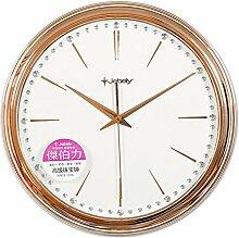DIDADI Wall Clock 44cm einseitig Wand Uhr mittlerer europäischer Schmuck stumm Uhr Wohnzimmer Schlafzimmer Tischuhren