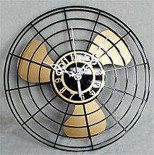 DIDADI Wall Clock Antiker Ventilator Wanduhr continental Wanduhr retro fan Uhren kreative Chinese Wall clock Mute 12 Zoll