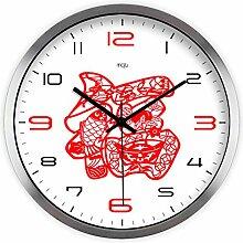 DIDADI Wall Clock Auch die einfache kreative Künste freudiger Wohnzimmer Schlafzimmer mute Wanduhr Quarz Uhren 12.