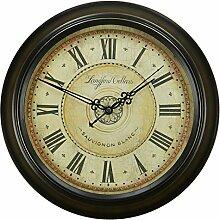 """DIDADI Wall Clock Continental retro mute Wanduhr Zeichnung einfache europäische antike Schautafel amerikanischen Dorf von Nostalgie Nordic, 12"""" (30,5 cm) im Durchmesser, das Ziffernblatt der Uhr"""