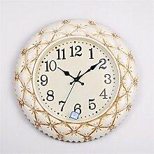 DIDADI Wall Clock Continental Uhren Modern Creative Wanduhr moderne, minimalistische Wanduhr mute hängen Tabelle eingerichtet Wanduhr