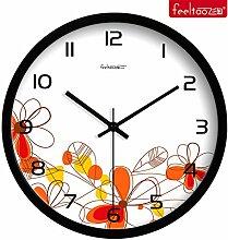 DIDADI Wall Clock Creative Brief über Wohnzimmer Wanduhr Familie Metall mute Uhren Quarzuhr Schlafzimmer Garten wind Festplatte Tabelle 10 Zoll