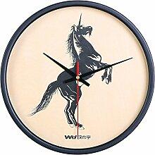 DIDADI Wall Clock Der Nordic - kreative Wanduhr Schlafzimmer Tier Wanduhr mute minimalistischen Wohnzimmer 12 Zoll Persönlichkeit Wecker