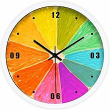 DIDADI Wall Clock Die Farbe der Zitrone kreatives modernes grosses Wohnzimmer Wanduhr mute Wanduhr Quarz Uhren 12.