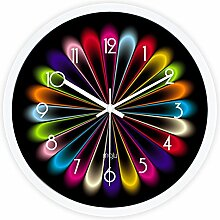 DIDADI Wall Clock Die modernen und stilvollen schwarz Avantgarde creative atemberaubende Wohnzimmer Schlafzimmer mute Wanduhr Quarz Uhren 12.
