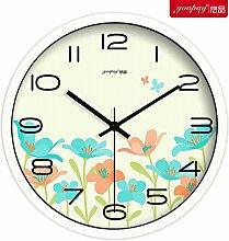 DIDADI Wall Clock die neue kreative blumenladen wanduhr uhr uhr moderne mode süß aus quarz - uhr 12 cm