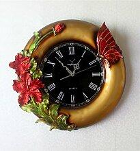 DIDADI Wall Clock Die Südostasiatischen Peacock Uhren Harz Handwerk Wanduhr