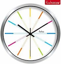 DIDADI Wall Clock Echte Metall Uhr stilvolle mute Wohnzimmer Wanduhr 12 cm Uhren