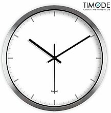 DIDADI Wall Clock Ein einfaches, weißes, modernes Haus Wohnzimmer Wanduhr 12 Zoll