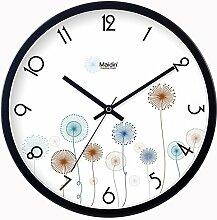 DIDADI Wall Clock Eine idyllische Pusteblumen Wanduhr Zeichnung kreative Mode Wall Clock Clock - Tabelle mute Quarzuhr 12 Zoll
