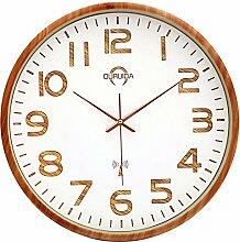 DIDADI Wall Clock Einfach ruhig einfache kreative Uhr Garten Uhr Wand Uhr moderne Wohnzimmer Schlafzimmer Funkuhr
