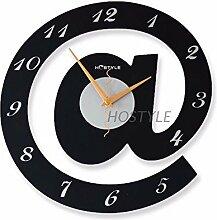 DIDADI Wall Clock EinSchreiben kreative Wanduhr mit einfachen und modernen stilvollen Mute Kinder Zimmer schautafel schöne Persönlichkeit Kunst Uhren Wecker Spezifikationen30 * 30 cm.