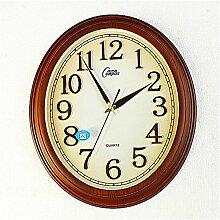 DIDADI Wall Clock Ellipse Wanduhr Wohnzimmer Schlafzimmer minimalistische amerikanische kreative Mode Uhren Wecker Quarzuhr 20 Zoll