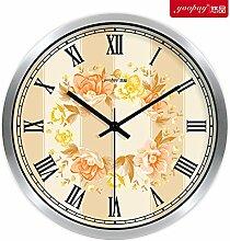 DIDADI Wall Clock europäische garten blumen kreative wohn - und schlafzimmer dekor wanduhr auf moderne quarz - uhr 12 cm