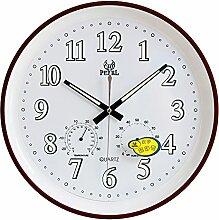 DIDADI Wall Clock Feuchtigkeit zeigt an, dass die leuchtenden Anzahl Runden Wand Uhr Ø 34 cm