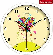 DIDADI Wall Clock Home Garten wind Kunst Uhr minimalistischen warmen Wohnzimmer Wanduhr QUARZUHR, mute 10 Zoll Schautafel