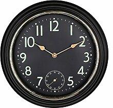 DIDADI Wall Clock Home Wohnzimmer Wanduhr 12 Zoll schwarz Casual Quarzuhr Continental