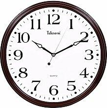 DIDADI Wall Clock Kalender stumm Scan Quarz Wanduhr