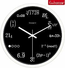 DIDADI Wall Clock Klassenzimmer Einrichtung Uhren kreative englischen Stil Schlafzimmer Wohnzimmer Wanduhr Quarzuhr 12 Zoll