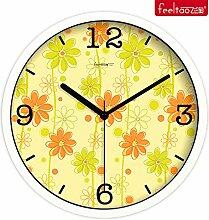 DIDADI Wall Clock Kreative home Garten Wanduhr Zeit frische Farben Uhr Zeichnung mute Uhren Schlafzimmer Quarzuhr - Tabelle 10 Zoll
