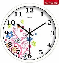 DIDADI Wall Clock Kreative Wohnzimmer Uhren stilvolle mute Schlafzimmer frisch garten Wanduhr kunst Quarzuhr 12 Zoll
