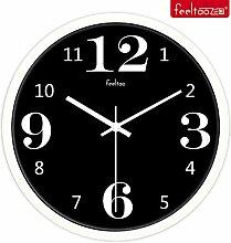 DIDADI Wall Clock Kunst kreativ Wohnzimmer mute Wanduhr continental Uhren Wecker 12 Zoll