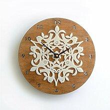 DIDADI Wall Clock Ländliche Idylle bambus holz Wald Tier birdie Wanduhr Wanduhr Schautafel Wanddekoration Quarzuhr 12 Kreative