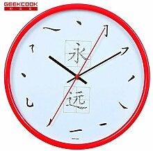 DIDADI Wall Clock Metall mute moderne Schlafzimmer Wohnzimmer Schautafel Wanduhr