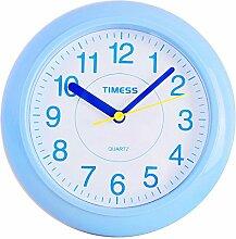 DIDADI Wall Clock Mode wasserdicht Bad Wand Uhr Uhr Mute für drei 18 * 18cm