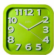 DIDADI Wall Clock Moderne Wohnzimmer Schlafzimmer einfache Stereo-mute Uhr 31,8 cm