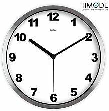DIDADI Wall Clock Mute klassischen minimalistischen Wanduhr Wohnzimmer traditionelle Wanduhr einfache Weiße Wanduhr 12 Zoll