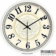 DIDADI Wall Clock Nouveau Continental Uhren Quarzuhr kreative Mute stilvolles Wohnzimmer Wall Clock Clock personalisierte Wandtafel 12 Zoll
