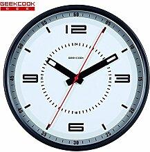 DIDADI Wall Clock Original Metall Wanduhr mute Uhren mechanische modernes Design Wohnzimmer Schautafel 12 Zoll