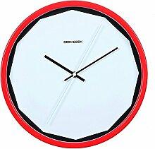 DIDADI Wall Clock Perfekt schneiden Metall Uhr Uhr stumm kreatives Design moderne minimalistische Wanduhr 12 Zoll