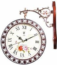 DIDADI Wall Clock Polaris Wanduhr stilvolle Mute minimalistischen Uhr Kontinentales retro Quarzuhr ,2807 FANTASIEDEKOREN