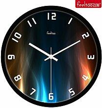 DIDADI Wall Clock Quarzuhren Persönlichkeit kreative moderne und stilvolle Wohnzimmer Wanduhr mute 12 Uhr
