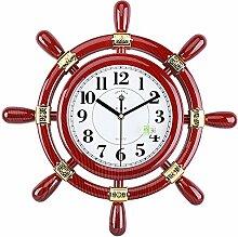 DIDADI Wall Clock Ruder Wohnzimmer Wanduhr mute kreative Clock rockigen Uhren modernes Wohnzimmer 18 Zoll