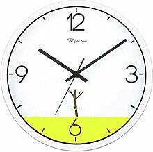 DIDADI Wall Clock Schlafzimmer Wohnzimmer minimalistische silent Mode Quarz weiß 12 Zoll