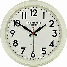 DIDADI Wall Clock Skandinavische Mode stumm Uhr US-amerikanischer Country antike Wanduhr in der Wohnzimmer-Stil Garten einfache europäischen Stil Wand charts 14 Zoll