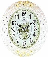 DIDADI Wall Clock Stille Wand Uhr kreative Schlafzimmer/Wohnzimmer schlanke, minimalistische ovale Uhr Wanduhr