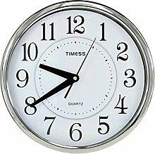 DIDADI Wall Clock Stillen Kreis Kreis Metall 12 Zoll in der Salon Wand Uhr 30 cm